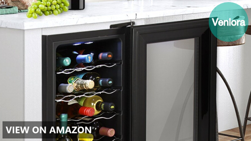 Nutrichef 18 Bottle Thermoelectric Wine Cooler Refrigerator