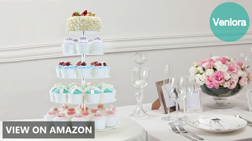 BonNoces 5 Tiers Round Pastry Stand