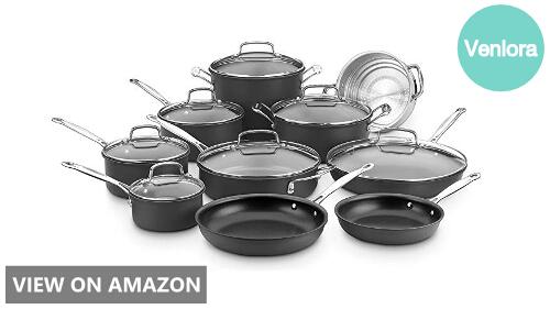 Cuisinart 66-17N vs T-fal E765SH: Cookware Set Comparison