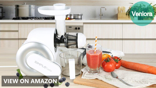 SimpleTaste Electric Masticating Juicer Extractor