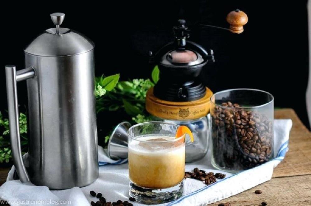 A stovetop french press pot