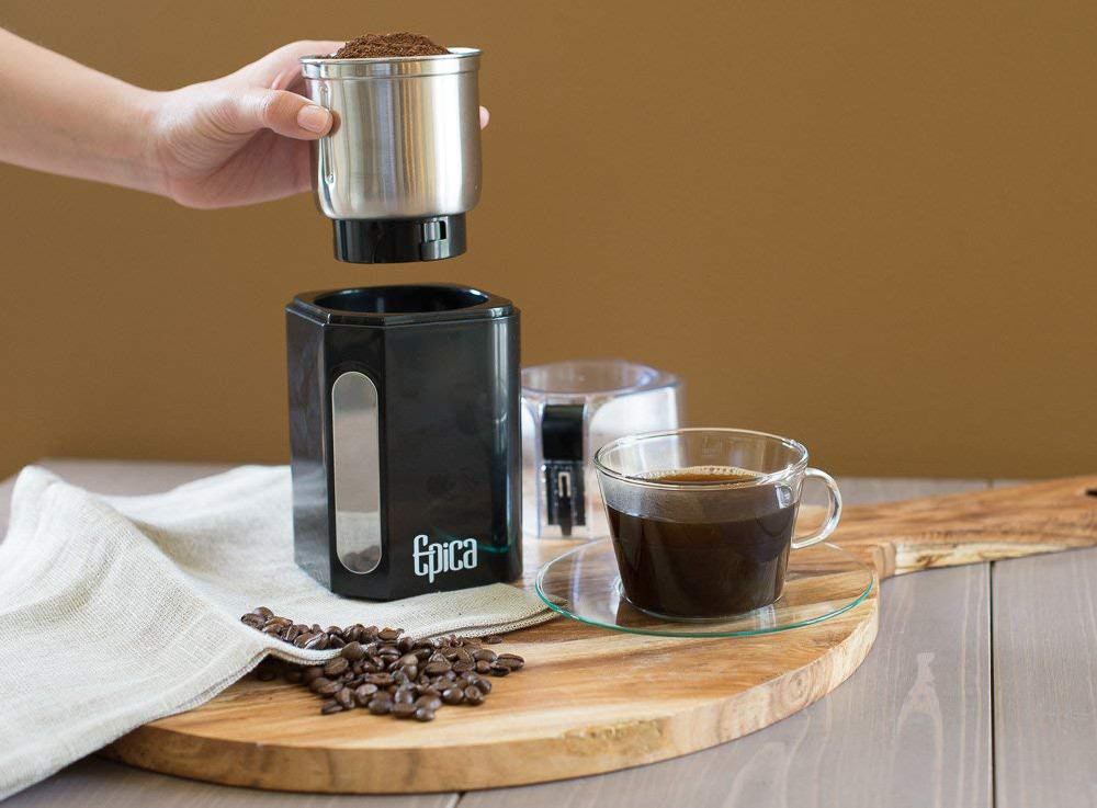 How do you clean a burr grinder?