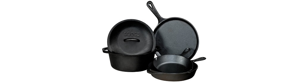 Lodge L5HS3KPLT Seasoned Cast Iron 5 Piece Bundle Review